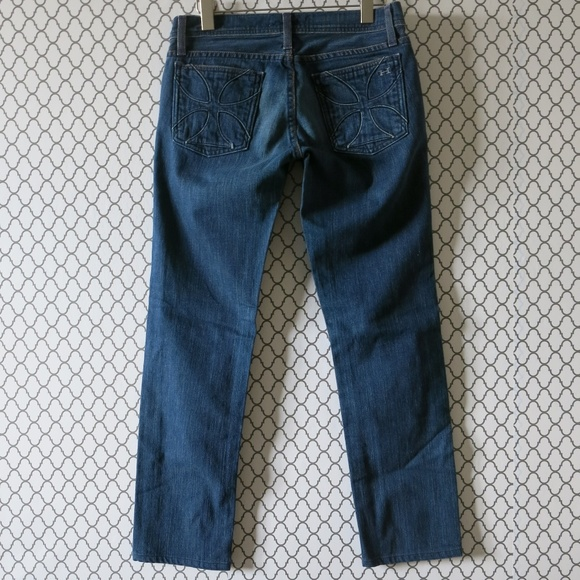 Habitual Dark Washed Straight Leg Denim Jeans 26
